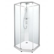 Душевая кабина Ido Showerama 10-5 Comfort (100х100) (профиль серебристый, прозрачное/матовое стекло)