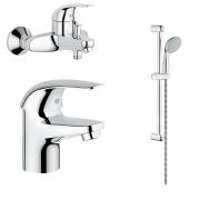 Комплект для ванны Grohe Euroeco (124428) 3 в 1
