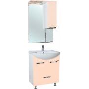 Мебель для ванной Bellezza Альфа 55 бежевая с нижним ящиком