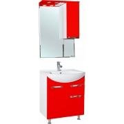Мебель для ванной Bellezza Альфа 65 красная с ящиком