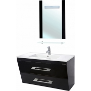 Мебель для ванной Bellezza Берта подвесная 100 черная