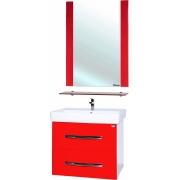 Мебель для ванной Bellezza Рокко 50 подвесная красная 2 ящика