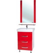 Мебель для ванной Bellezza Рокко 60 красная напольная 3 ящика