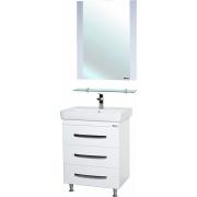 Мебель для ванной Bellezza Рокко 70 белая напольная 3 ящика