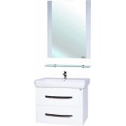 Мебель для ванной Bellezza Рокко 70 подвесная белая 2 ящика