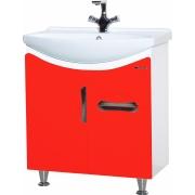 Тумба с раковиной Bellezza Лагуна 65 с ящиком, красная