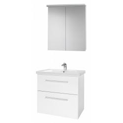"""Dreja Мебель для ванной """"Big Inn 75"""" белый глянец"""