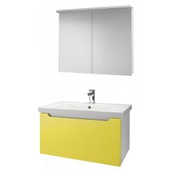 """Dreja Мебель для ванной """"Color 90"""" желтый глянец"""
