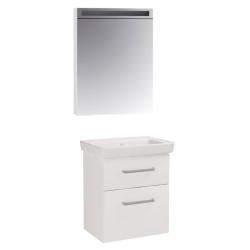 "Dreja Мебель для ванной ""Go S 55"" белый глянец"