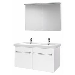 """Dreja Мебель для ванной """"Inn 125"""" белый глянец"""