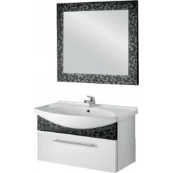 """Dreja Мебель для ванной """"Ornament 105"""" декор черный"""