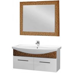 "Dreja Мебель для ванной ""Ornament 120"" декор бронза"