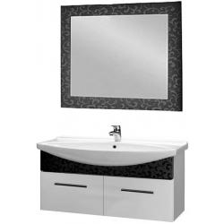 """Dreja Мебель для ванной """"Ornament 120"""" декор черный"""