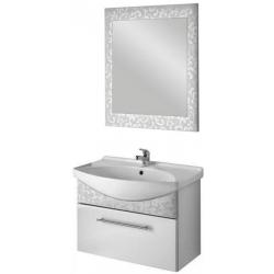 "Dreja Мебель для ванной ""Ornament 85"" декор белый"
