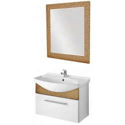 "Dreja Мебель для ванной ""Ornament 85"" декор бронза"