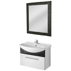 """Dreja Мебель для ванной """"Ornament 85"""" декор черный"""