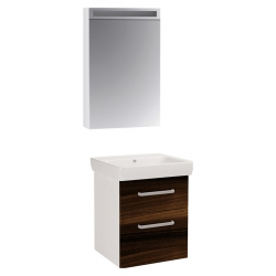 "Dreja Мебель для ванной ""Q max 55"" орех"