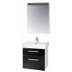 """Dreja Мебель для ванной """"Q max S"""" 55 черный глянец"""