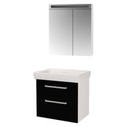 """Dreja Мебель для ванной """"Q max S"""" 70 черный глянец"""
