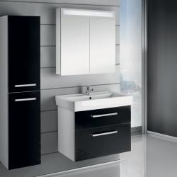 """Dreja Мебель для ванной """"Q max S"""" 80 черный глянец"""