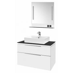 """Dreja Мебель для ванной """"Tower 100"""" белый глянец, 2 ящика"""