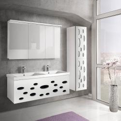 "Dreja Мебель для ванной ""Vitta 125"" белый глянец"