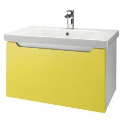 "Dreja Тумба с раковиной ""Color 75"" желтый глянец"