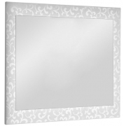 "Dreja Зеркало для ванной ""Ornament 105"" белое"