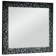 """Dreja Зеркало для ванной """"Ornament 120"""" черное"""