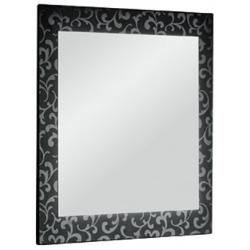 """Dreja Зеркало для ванной """"Ornament 75"""" черное"""