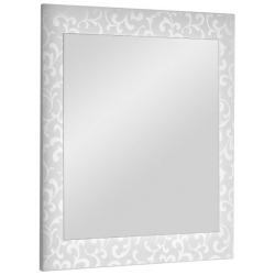 "Dreja Зеркало для ванной ""Ornament 85"" белое"