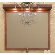 Opadiris Зеркало для ванной Борджи 105 светлый орех, с козырьком
