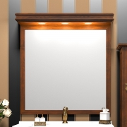 Opadiris Зеркало для ванной Борджи 85 светлый орех, с козырьком
