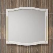 Opadiris Зеркало для ванной Лаура 100 белое с патиной