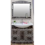 Sanflor Мебель для ванной Адель 100 венге, патина серебро