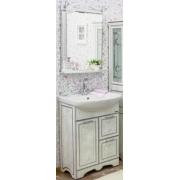 Sanflor Мебель для ванной Адель 65 белая, патина серебро