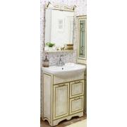 Sanflor Мебель для ванной Адель 65 белая, патина золото