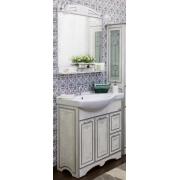 Sanflor Мебель для ванной Адель 82 R белая, патина серебро