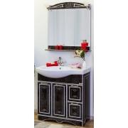 Sanflor Мебель для ванной Адель 82 R венге, патина серебро