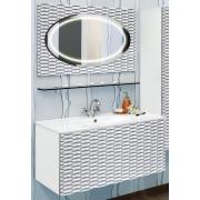 Sanflor Мебель для ванной Белла 100 белая, патина серебро