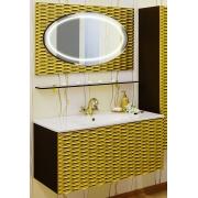 Sanflor Мебель для ванной Белла 100 шоколадный, патина золото