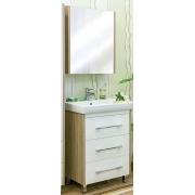 Sanflor Мебель для ванной Ларго 60 L вяз швейцарский, белая