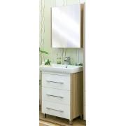 Sanflor Мебель для ванной Ларго 60 R вяз швейцарский, белая