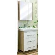 Sanflor Мебель для ванной Ларго 70 L вяз швейцарский, белая