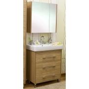 Sanflor Мебель для ванной Ларго 80 L вяз швейцарский