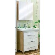 Sanflor Мебель для ванной Ларго 80 L вяз швейцарский, белая