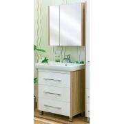 Sanflor Мебель для ванной Ларго 80 R вяз швейцарский, белая