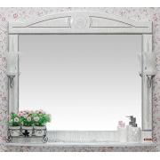 Sanflor Зеркало Адель 100 белое/патина серебро