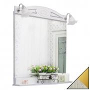 Sanflor Зеркало Адель 82 белое/патина золото