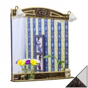 Sanflor Зеркало Адель 82 венге/патина серебро